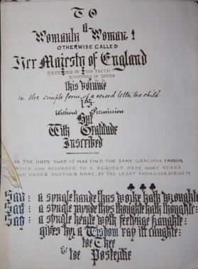 Victorian Verse Manuscript on all kinds of