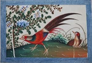 Album of a Dozen Chinese Watercolors of Colorful Birds on Pith Paper, 19th Century