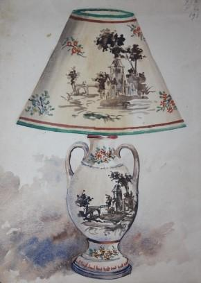 Salesman's Sample Album of Lamp and Lampshade Designs, with 25 Original Watercolors, and Many Mou...
