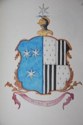 Heraldry Notebook Manuscript with over 400 Watercolored Coat-of-Arms