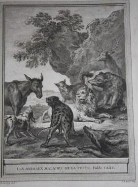 Fables Choisies Mises En Vers (4 Vols.): La Fontaine, Jean De. Illustrated by Jean-Baptiste Oudry