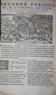 Orlando Furioso, Con Cinque Canti d'un Nouvo Libro, & Altre Stanze del Medesimo nuovamente...