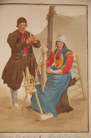 Afbeeldingen van de Kleedingen, Zeden en Gewoonten in Holland, Met Den Aanvang Der Negentiende Eeuw...
