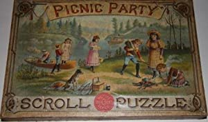 Picnic Party. Scroll Puzzle