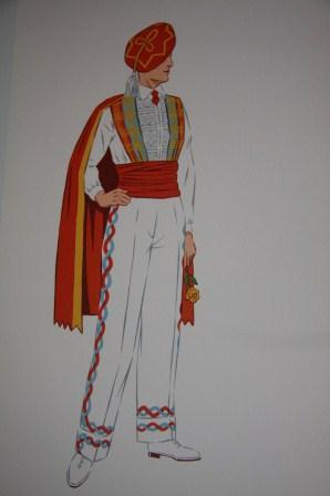 French Costume [together with eight hand-colored cards of French costume pasted onto the endpapers]...
