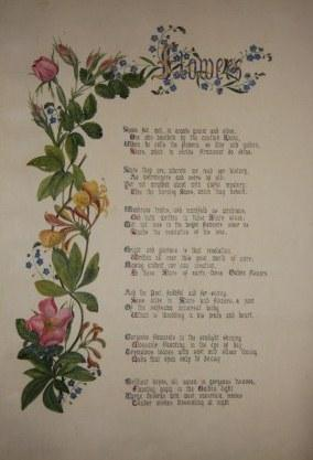 Illuminated Manuscript of Victorian Verse and Floral Decoration: F. G. B.