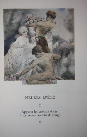 Oeuvres de Albert Samain (Three volumes): Samain, Albert. Illustrations of William Fels