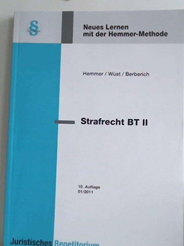 Strafrecht BT I - Karl-Edmund Hemmer