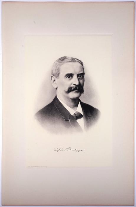 Portrait, Heliogravüre nach Photo, 20 x 30: Schweigger, Carl Ernst