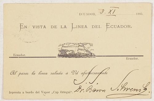 CS - Gedruckte Postkarte mit eigenhändigem Namenszug: Schrenck-Notzing, Albert Freiherr