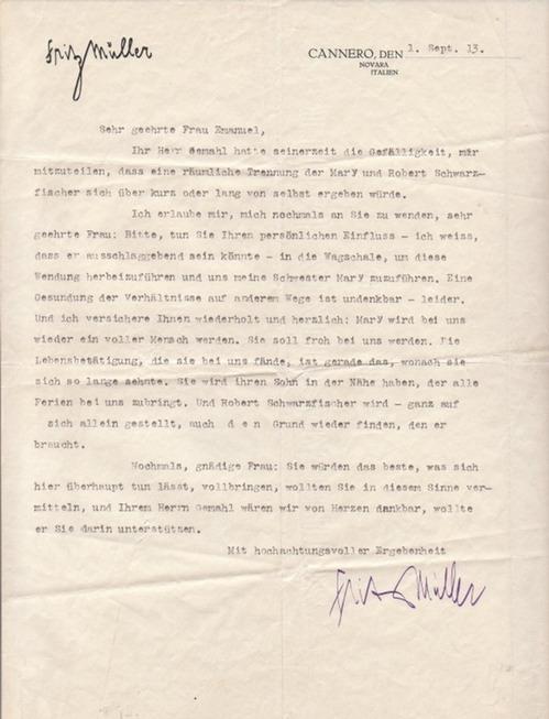 Eigenhändiger Brief Mit Von Karl Manuskripte Papierantiquitäten