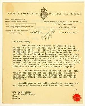 LS - Maschinenschriftlicher Brief mit eigenhändiger Unterschrift.: Findlay, Walter Philip