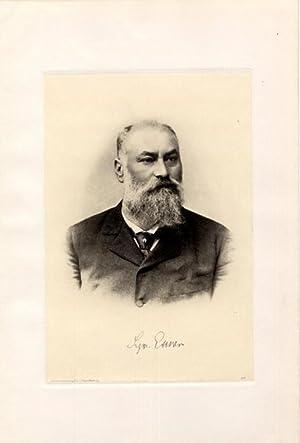 Portrait, Brustbild, Heliogravüre nach Photo, 18 x 26 cm.: Exner, Siegmund (Sigmund) =