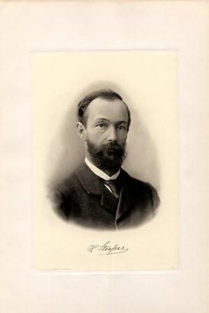 Portrait, Brustbild, Heliogravüre nach Photo, 18 x 26 cm.: Strasser (Straßer), Hans =