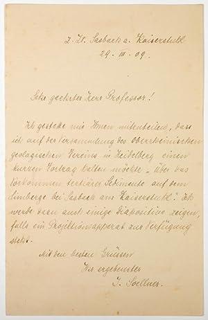 ALS - Eigenhändiger Brief mit Unterschrift.: Soellner, Julius Hubert -