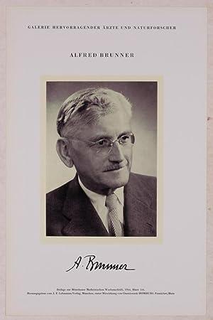 Portrait, Brustbild, Photographie, Lichtdruck 8,5 x 12 cm.: Brunner, Alfred =