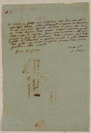 ALS - Eigenhändiger Brief mit Unterschrift.: Scarpa, Antonio -