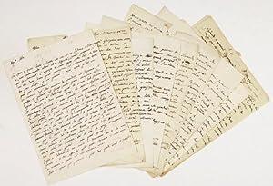 ALS + AL - 9 eigenhändige Briefe,: Scarpa, Antonio -