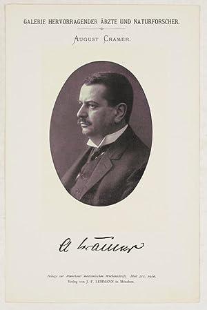 Portrait, Brustbild, Photographie, Lichtdruck 8,5 x 12 cm.: Cramer, August =