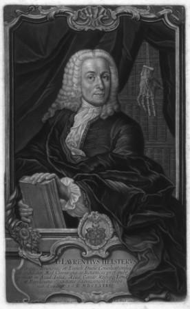 Portrait, Schabkunstblatt (Plattengröße 31,3 x 19,3 cm).: Heister, Lorenz =