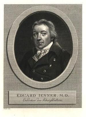Portrait, Brustbild im Oval; unten: Eduard Jenner.: Jenner, Edward =
