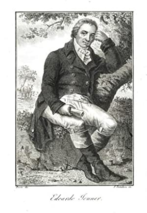 Portrait, In ganzer Figur auf einem Baumstamm: Jenner, Edward =