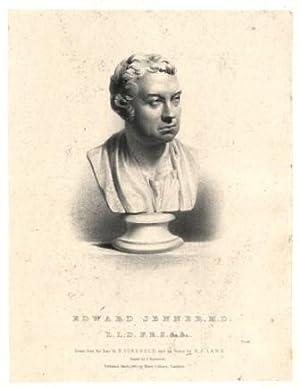 Portrait, Sculptured bust on pedestral (by Charles: Jenner, Edward =