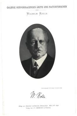 Portrait, Brustbild, Photographie, Lichtdruck 8,5 x 12 cm.: Kolle, Wilhelm =