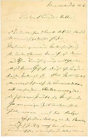 ALS - Eigenhändiger Brief mit Unterschrift.: Pagenstecher, Alexander -