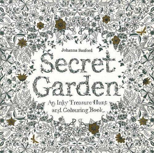 Secret Garden An Inky Treasure Hunt And Coloring Book Basford Johanna