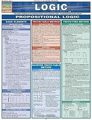 Logic: Propositional Logic (Quick Study: Academic): BarCharts, Inc.
