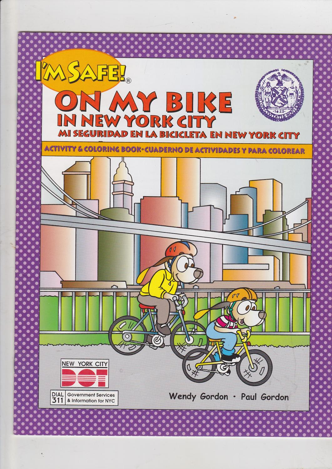 Im Safe On My Bike En La Bicicleta Activity Coloring Book Cuaderno