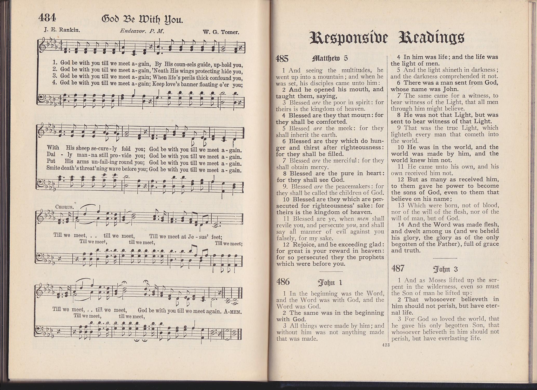 the Modern Hymnal, Standard Hymns and Gospel