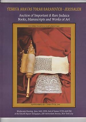 Yeshiva Ahavas Torah Baranovich - Jerusalem Auction