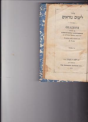 Makhzor leyamim noraim, Machzor} ORAZIONI per il: Costa, [I?], translator