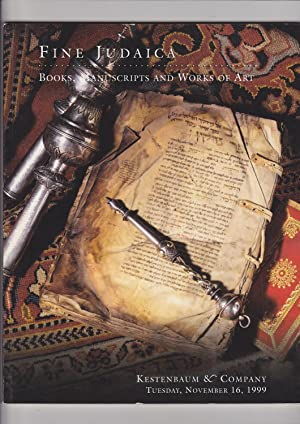 Fine Judaica Books, Manuscripts and Works of: Kestenbaum & Company