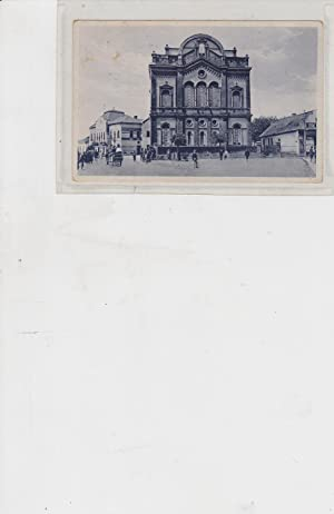 Berehovo - Beregszasz [postally used postcard with photo of the synagogue]