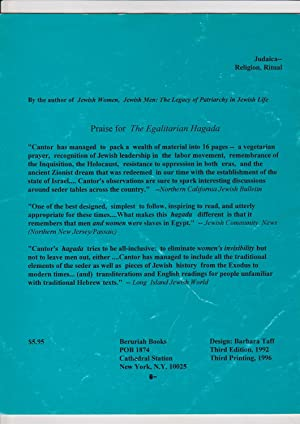 The Egalitarian Hagada: Cantor, Aviva
