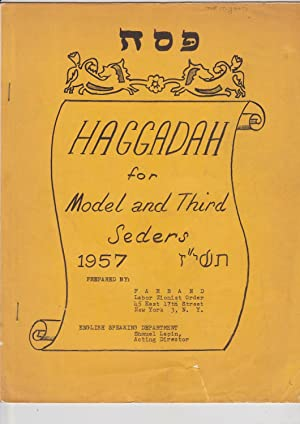 Haggadah for model and third seders 1957