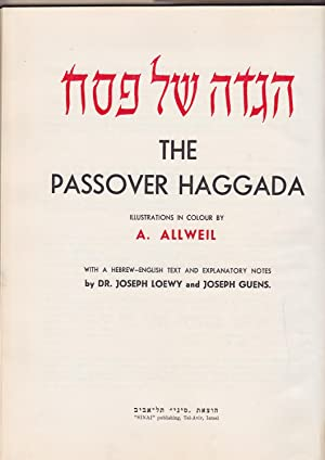 The Passover Haggada illustrations in colour by: Brod, Max (essay: