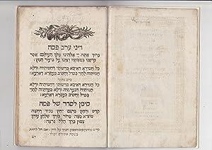 Passover Haggadah, Ashkenazic rite] Compendium Orationum Seder Hagada shel Pesakh kefi minhag ...