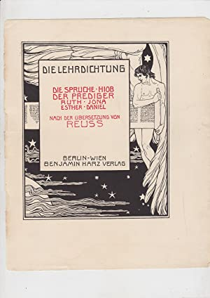 Die Lehrdichtung : Die Sprüche, Hiob, Der: Rahlwes, F. [Ferdinand]
