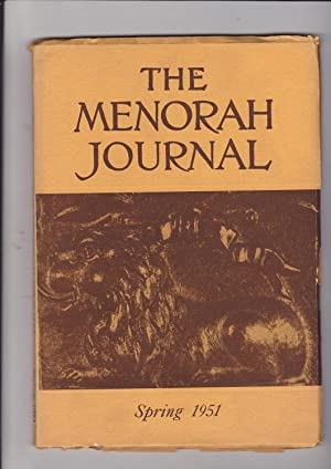 The Menorah Journal Vol. Volume XXXIX No.: Hurwitz, Henry, Editor
