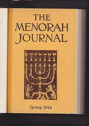 The Menorah Journal Volume XXXII Numbers 1: Hurwitz, Henry, Editor