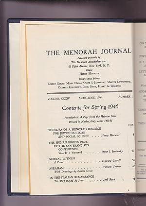 The Menorah Journal Volume XXXIV Number 1: Hurwitz, Henry, Editor