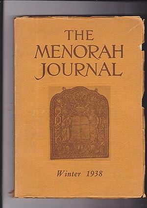 The Menorah Journal. Volume XVI Number 1.: Hurwirtz, Henry, Editor