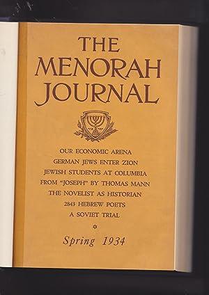 The Menorah Journal. Volume XXII. 1934. Numbers: Hurwirtz, Henry, Editor