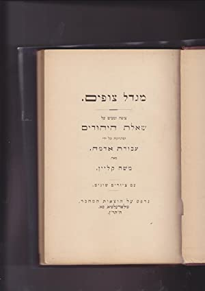 Migdal Zophim (The Watch Tower.) The Jewish: Klein, Moses