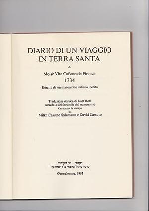 Diario di Un Viaggio in Terra Santa di Moise Vita Cafsuto da Firenze 1734 Estratto da un ...