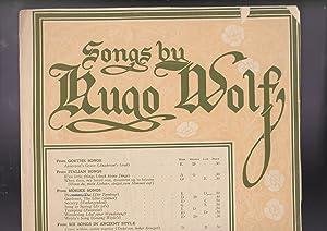 songs of Hugo Wolf: from Morike Songs: Hugo Wolf; Morike,